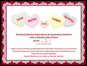 love notes with candy quotes music activities with a valentines day theme