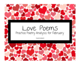 Love Poems Analysis Practice Packet/ Valentine's Day Activity