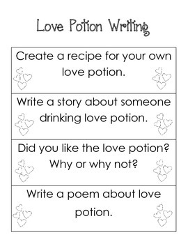 Love Potion Reading and Writing