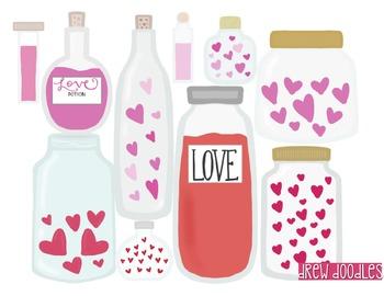 Love Potions Digital Clip Art Set