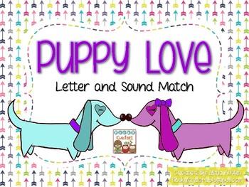 Puppy Love Alphabet and Sound Match