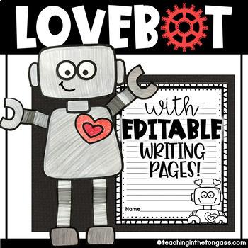 Valentine Craftivity Love Robot (Craft Activity)