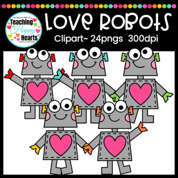 Love Robots Clipart