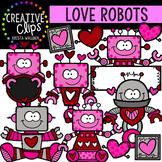 Love Robots: Valentine Clipart {Creative Clips Clipart}