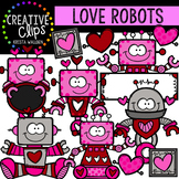 Love Robots: Valentine Clipart {Creative Clips Clipart}