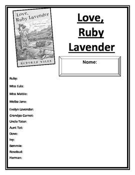 Love Ruby Lavender Literature Study