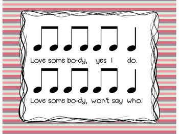 Love Somebody- A Song to Practice Ta, Ti-ti, and Sol-La-Mi