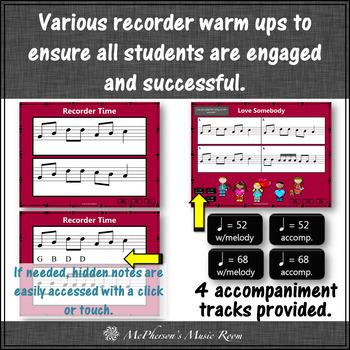 Love Somebody - Soprano Recorder Visuals (Notes GABCD)