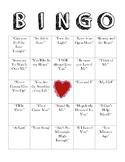 Love Song Bingo
