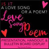 Love Song or Poem Interactive Bulletin Board, Quiz, & Pres