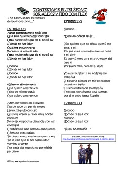 Love Songs in Spanish with Lyrics, Cloze Activities and Video Links