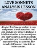 Love Sonnets Analysis Lesson (GOOGLE SLIDES)