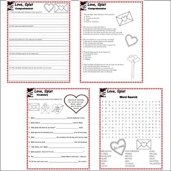 Love, Splat Cat : Valentine Book Companion Reading Comprehension Literacy Unit