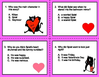 Love, Splat   --  Comprehension Scoot/Pass/Center Work