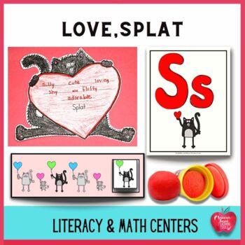 Love, Splat Literacy and Math Center Activities