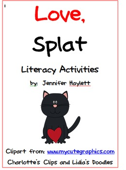 Love, Splat Literacy Activities