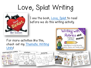 Love, Splat - Reading and Writing Activities