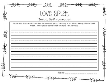 Love Splat- Text to Self Writing
