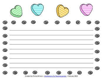 Love Stories - A Writing Activity With Conversation Hearts