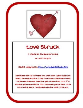 Love Struck! A Valentine's Day Sight Word Game