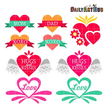 Love Tattoo Clip Art - Great for Art Class Projects!