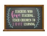 Love Teaching Poster