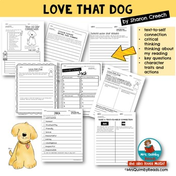 Love That Dog | Book Companion | Reader Response Pages | Poetry Pages