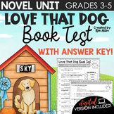 Poetry Unit: Love That Dog Book & Vocabulary Test