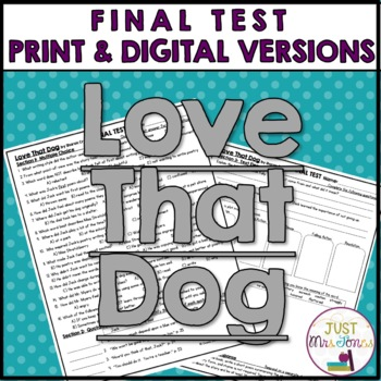 Love That Dog Final Test