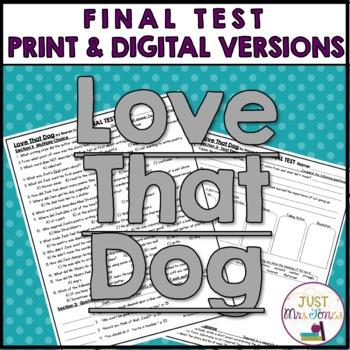 Love That Dog Final Test