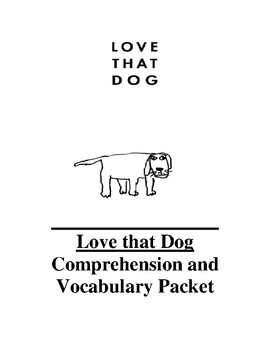 Love that dog assessment teaching resources teachers pay teachers love that dog guided reading unit level t fandeluxe Image collections