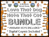 Love That Dog   Hate That Cat Bundle (Sharon Creech) : 2 Novel Studies