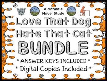 Love That Dog | Hate That Cat Bundle (Sharon Creech) : 2 Novel Studies