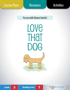 Love That Dog Lesson Plans & Activities Package, Fifth Grade (CCSS)