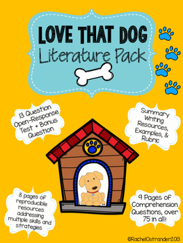Love That Dog Literature Pack