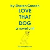 Love That Dog Novel Unit