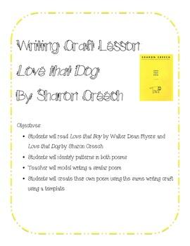 Love That Dog Poem