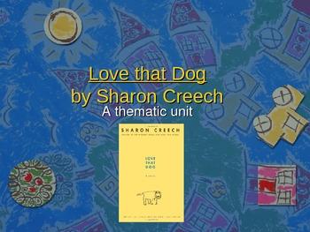 Love That Dog Theme Unit