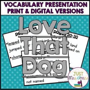 Love That Dog Vocabulary Presentation