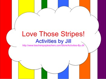 Love Those Stripes!  (PowerPoint Template)