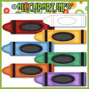 Love To Learn Colors Crayons Clip Art (No Color Names)