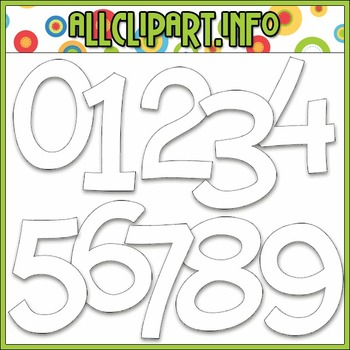 BUNDLED SET - Love To Learn Math Numbers Clip Art & Digital Stamp Bundle