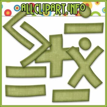 BUNDLED SET - Love To Learn Math Symbols Clip Art & Digita