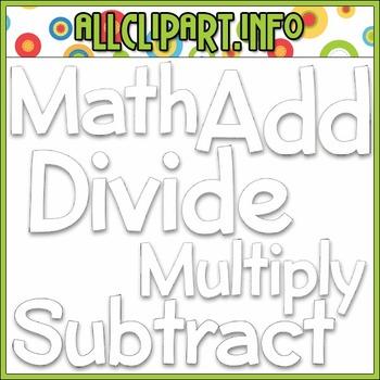 BUNDLED SET - Love To Learn Math Word Art 1 Clip Art & Digital Stamp Bundle