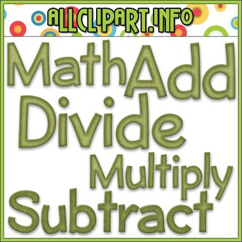 BUNDLED SET - Love To Learn Math Word Art 1 Clip Art & Dig