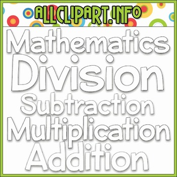 BUNDLED SET - Love To Learn Math Word Art 2 Clip Art & Digital Stamp Bundle