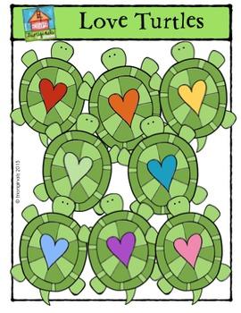 Love Turtles {P4 Clips Trioriginals Digital Clip Art}