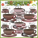Love U A Latte Coffee Cups Clip Art
