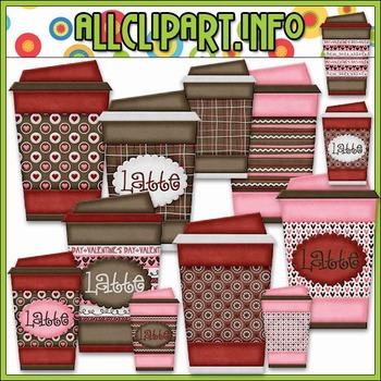 Love U A Latte To Go Cups Clip Art