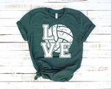 Love Volleyball svg Elf sweater ball gift mom Christmas valentine's day 1156s
